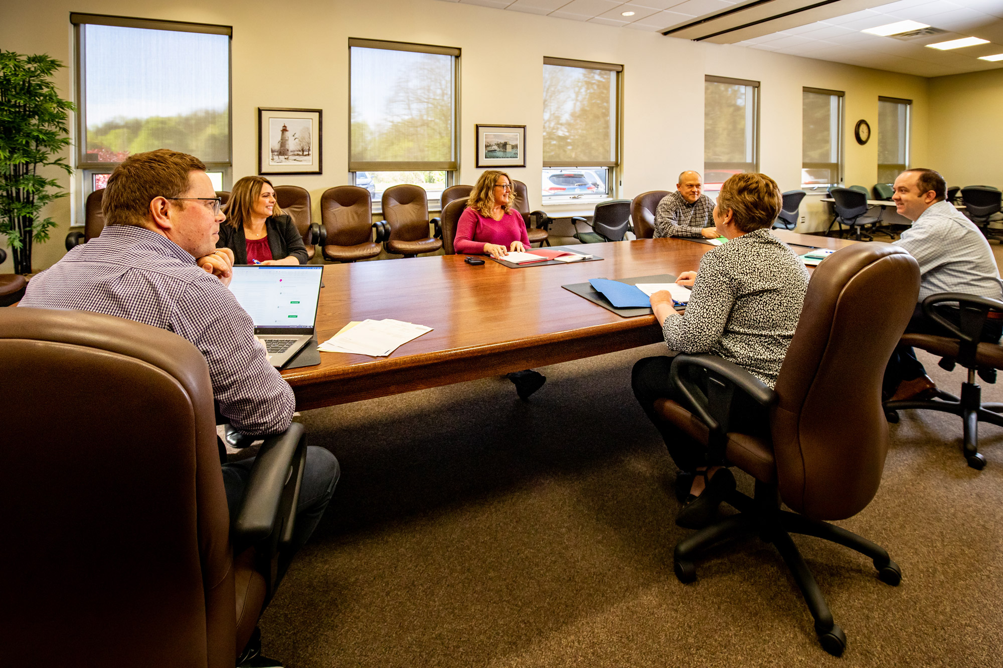 Meeting of Kent and Essex staff in board room