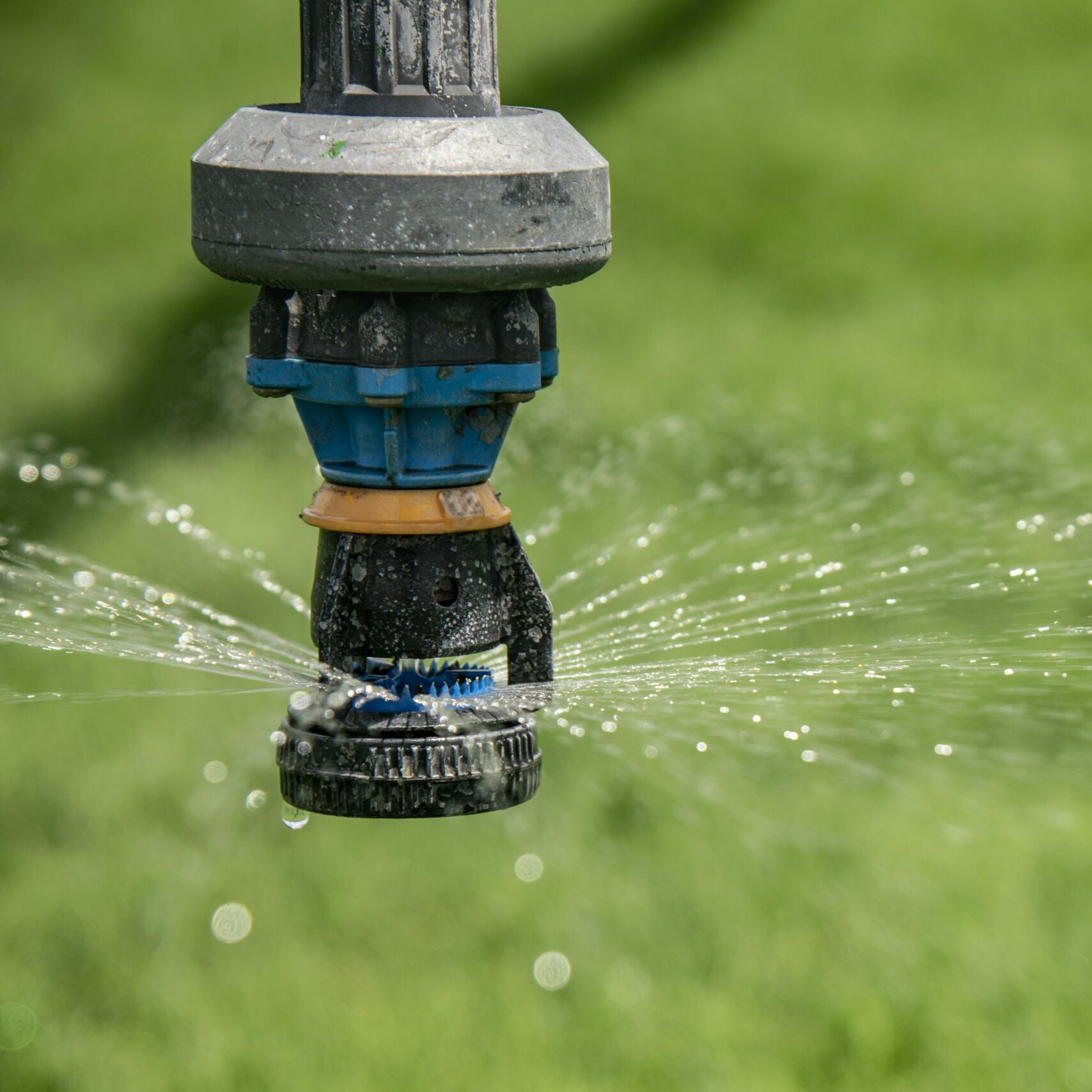 Close up of a water sprinkler